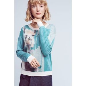 Anthropologie Women's Llama Farm  Animal Sweater